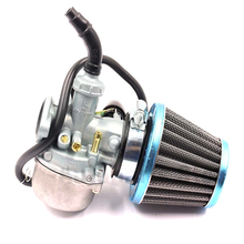 19mm Motorcycle Dirt Bike Go Kart Carburetor and Air Filter With Right Hand Choke for 50cc 70cc 90cc 110cc 125cc ATV