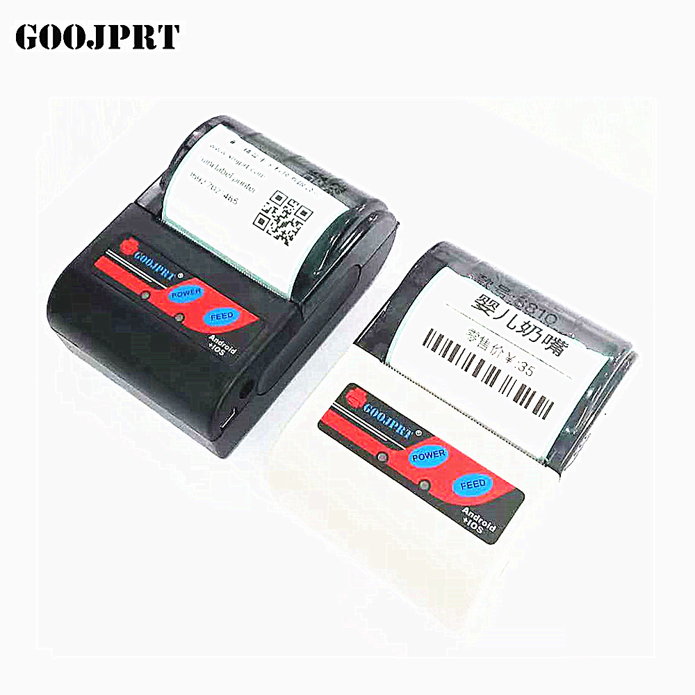 Free ship 58mm Thermal barcode printer Qr code label printer receipt printer with bluetooth