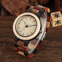 Natural Handmade Wood Watch Leather Band Strap Full Wood Watches Quartz Movement Best Gifts for Men Women Quartz Watches