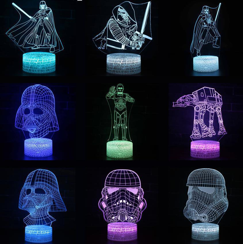 Star Wars Stormtrooper Figure Kids Led 3D Light Touch Sensor Room Decor Lamp Child Holiday Birthday Gifts Table Lamp Bedside