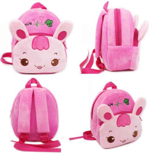 0693f1199fb3 2019 Новый розовый кролик мультфильм Плюшевый Детский Рюкзак принцесса  детский сад школьная сумка для маленьких девочек