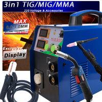 TIG / MMA / MIG Welding Machine 3IN1 Combo Multi Function Welder 220V & Torchs
