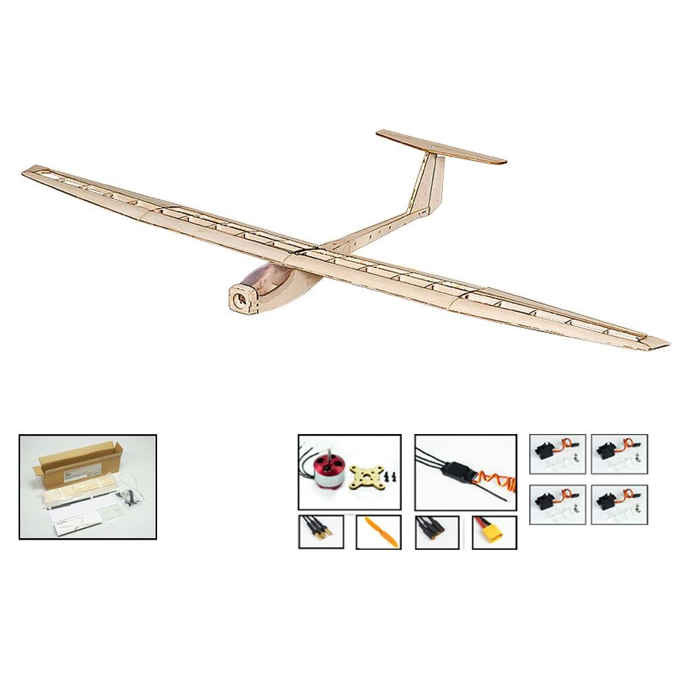 F1501 Balsa Dancing Wings Hobby RC Airplane Glider 1550mm Wingspan Aircraft DIY KIT Toys