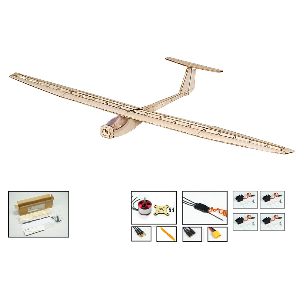 F1501 Balsa Tanzen Flügel Hobby RC Flugzeug Segelflugzeug 1550mm Spannweite Flugzeug DIY KIT Spielzeug-in RC-Flugzeuge aus Spielzeug und Hobbys bei  Gruppe 1