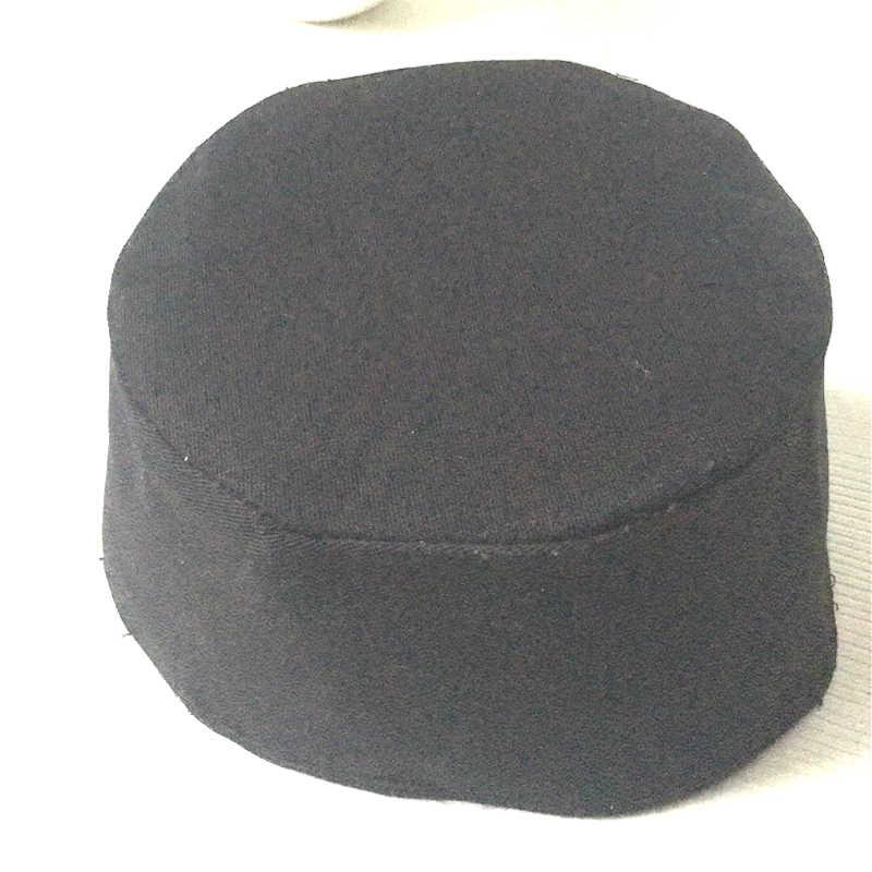5e9e0a10e8353 ... Customized Black Cotton Mens Islamic Muslim Prayer Hats Kufi Skull Cap  Beanie Egyptian Khanqahi Turkish Caps