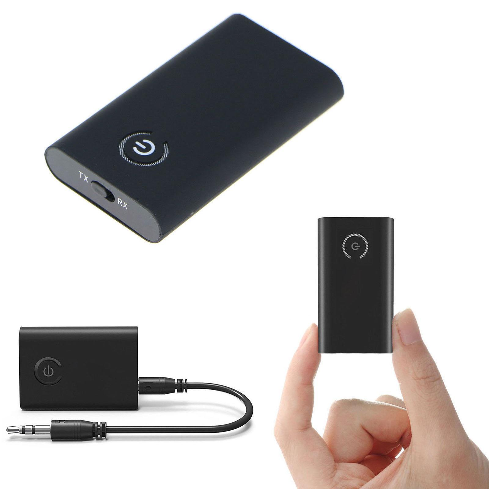 2 in 1 USB Wireless Bluetooth Audio Transmitter Button Receiver 10m 3.5mm Stereo Earphone Holder Audio Adapter