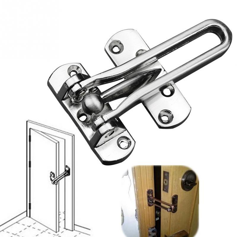 สแตนเลสล็อค Hasp ล็อคประตู Chain Anti - theft Clasp สะดวกหน้าต่างตู้ล็อคสำหรับโรงแรม Home Security #031
