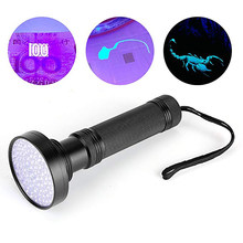 UV Led Flashlight 100 Leds 395nm Ultra Violet Torch Light Lamp Blacklight Detector For Dog Urine Pet Stains And Bed Bug(China)