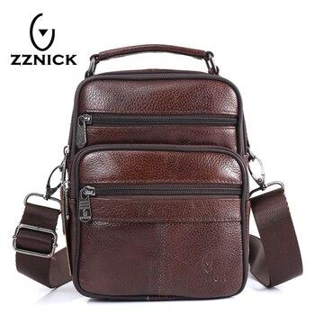 cc5120d1b552 ZZNICK для мужчин планшеты сумки Сумка дизайнер портфель, плечевая сумка  пояса из натуральной кожи crazy horse дорожные сумки 8210