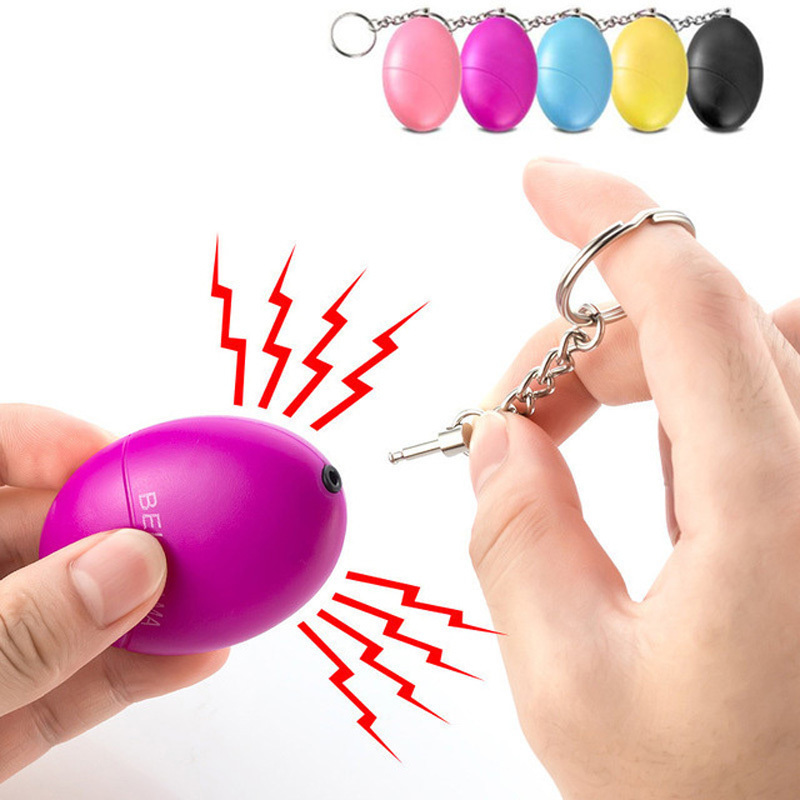 Mini Self Defense 120db Egg Shape Girl Women Security Protect Alert Personal Safety Scream Loud Keychain Emergency Alarm SafeMini Self Defense 120db Egg Shape Girl Women Security Protect Alert Personal Safety Scream Loud Keychain Emergency Alarm Safe