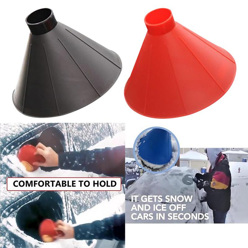 Magic Cone Shaped Windshield Ice Scraper Snow Remover Car Supplies For Winter Snow Cleaning Car Ice Scraper Automotive