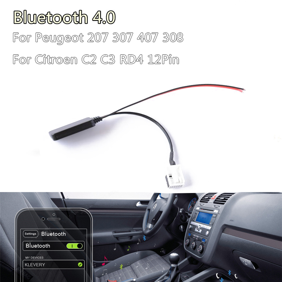 Worldwide delivery rd4 radio bluetooth aux in cable in