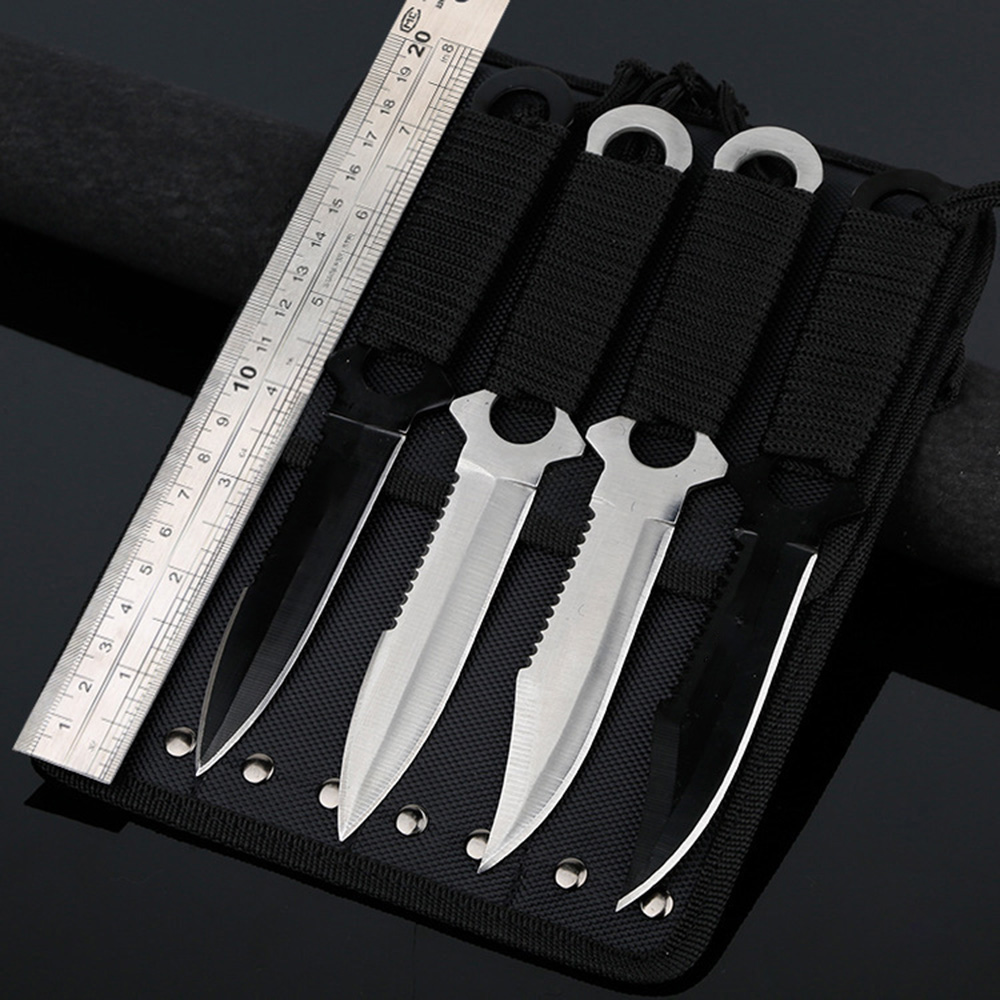OWL OD049 4pcs Stainless Steel Fixed Blade Knife with Bag throwing knife zombie kille tactical knife Pocket knifer Free shippingOWL OD049 4pcs Stainless Steel Fixed Blade Knife with Bag throwing knife zombie kille tactical knife Pocket knifer Free shipping