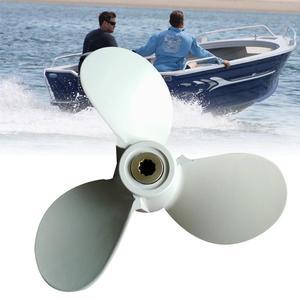 Small Marine Ship Propeller Three-leaf Aluminum Alloy Propeller for Yamaha Outboard 4-6 HP Motor()