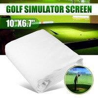 300*200 см мяч для гольфа симулятор воздействия дисплей проекционный экран крытый белый материал ткани