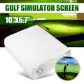 300*200 см мяч для гольфа симулятор воздействия дисплей проекционный экран крытый белый материал ткани - фото