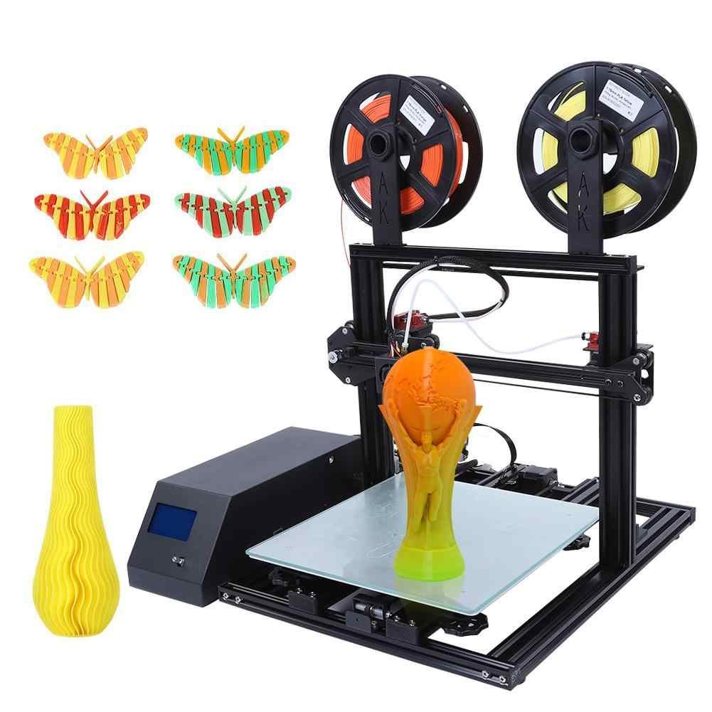 Dois-Kit DIY Impressora de Impressão a cores 3D Rápido 100 milímetros/s Impressora de 0.4 milímetros de Diâmetro Do Bico 3D