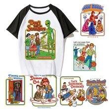 Новинка, Мужская футболка с Сатаной, футболка с демоном, смерти, страшным злом, хип-хоп, сатанство, грим, жнец, злой, футболка, психоделический фильм ужасов, Мужская/женская футболка