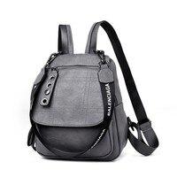 2019 Retro Designer Backpacks Women Leather Backpacks Female School Bags For Teenager Girls Travel Back Bag Bagpack Sac A Dos