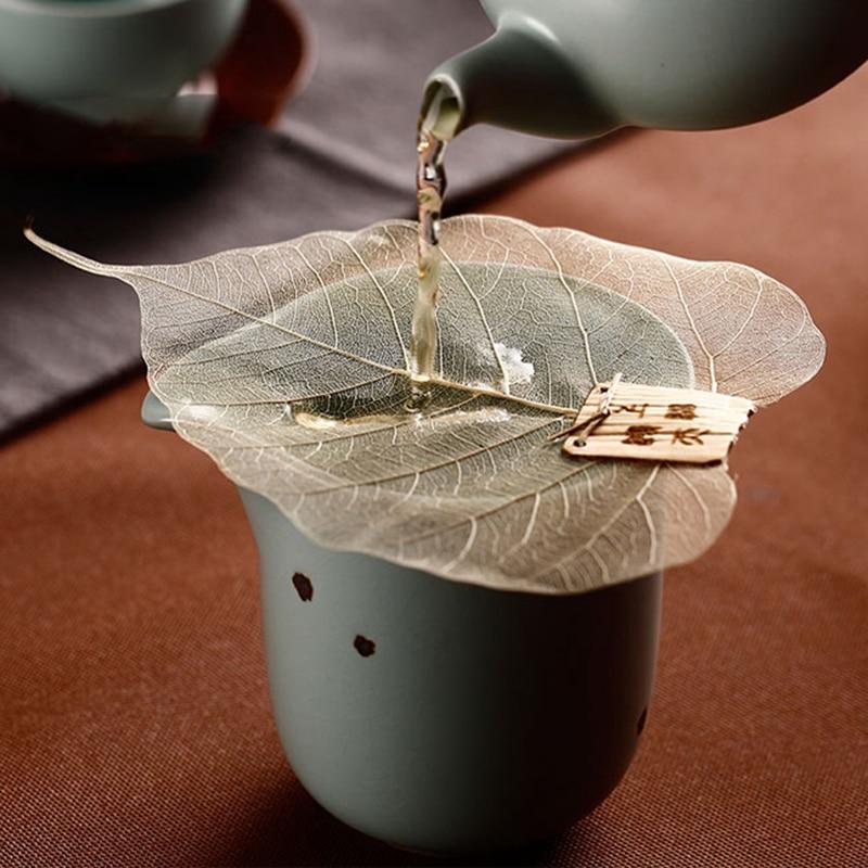 1Pcs Bodhi Leaf Tea Filter Creative Net Kong Futea Accessory Chinese Tea Set Teapot Tea Cup Strainers