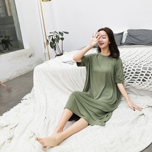 2019 Summer Nightdress For Women Modal Cotton Sleepwear Comfortable Nightshirts Nightgowns Nightwear Sleepshirts
