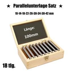 9 Pairs 18 Pcs Hoge precisie Vervaardigd Parallel Pad Gauge Blok CNC Frezen Pads Set Gelegeerd staal 100mm x (10-42mm) gemakkelijk Carry