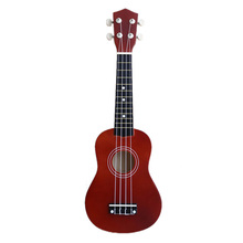 ABGZ-21 inch Soprano Ukulele 4 Strings Hawaiian Guitar Uke + String + Pick For Beginners kid Gift(Red brown) Basswood Instrument abgz 23inch guitar mini guitar basswood kid s musical toy acoustic stringed instrument with plectrum 1st string red