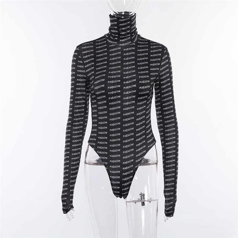 BOOFEENAA Черный боди с буквенным принтом женские футболки Модная уличная Женская черепаха с длинным рукавом сексуальное боди C83AZ30