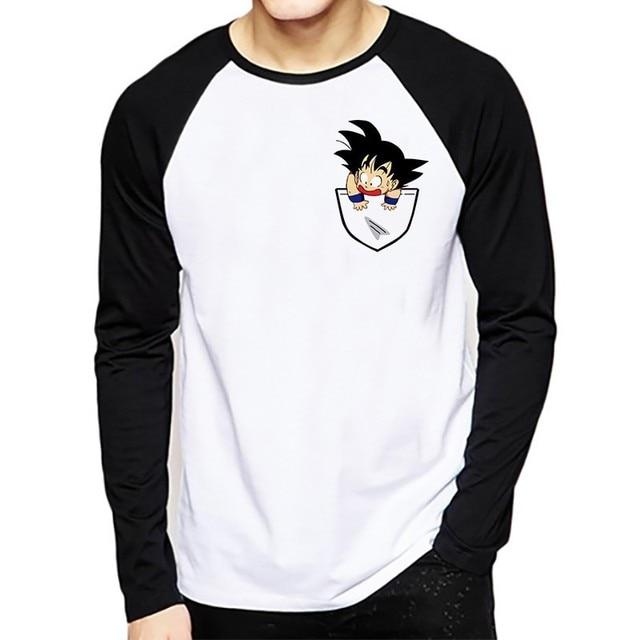 e53b5c2da6 Dragon Ball camiseta manga larga Hombre invierno Dragon Ball Z Super Son Goku  Slim Fit Cosplay