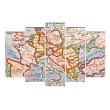Modern Posters Interesting world map Painting wall frame Canvas Art Pictures for Living Room Home Decoration Free Shipping