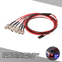 6PCS LED Licht Kit 2 Wit 2 Rood 4 Geel voor 1/10 1/8 Traxxas HSP Redcat RC4WD Tamiya Axiale SCX10 D90 HPI RC Auto(China)