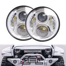 цена на 8pcs 7in LED headlight offroad headlamp 36W led driving hi low lamp PAR56 for Wrangler TJ 4WD 4x4 offroad truck SUV trailer
