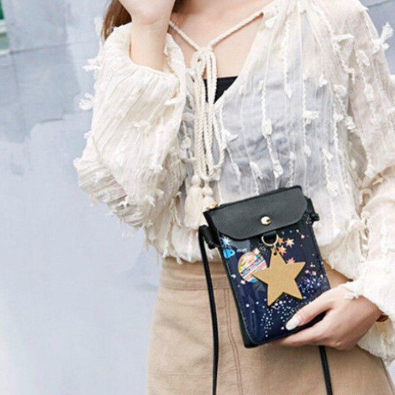 Women Satchel Leather package Shoulder Girl Fashion Bag Handbag+Star ornaments Waist Packs
