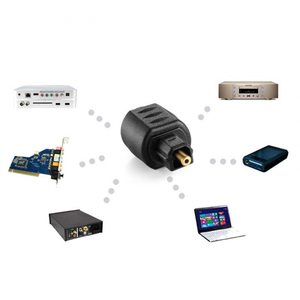 Image 5 - Mini Optical Audio Adattatore 3.5MM Femmina Martinetti Digitale Toslink Spina Maschio per Amplificatore