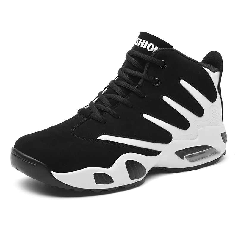 430dfaaaaed Basketball Shoes Men Sneakers Lebrons High Top Lace Up Ankle Sport Shoes  Air Cushion Sneakers Shockproof