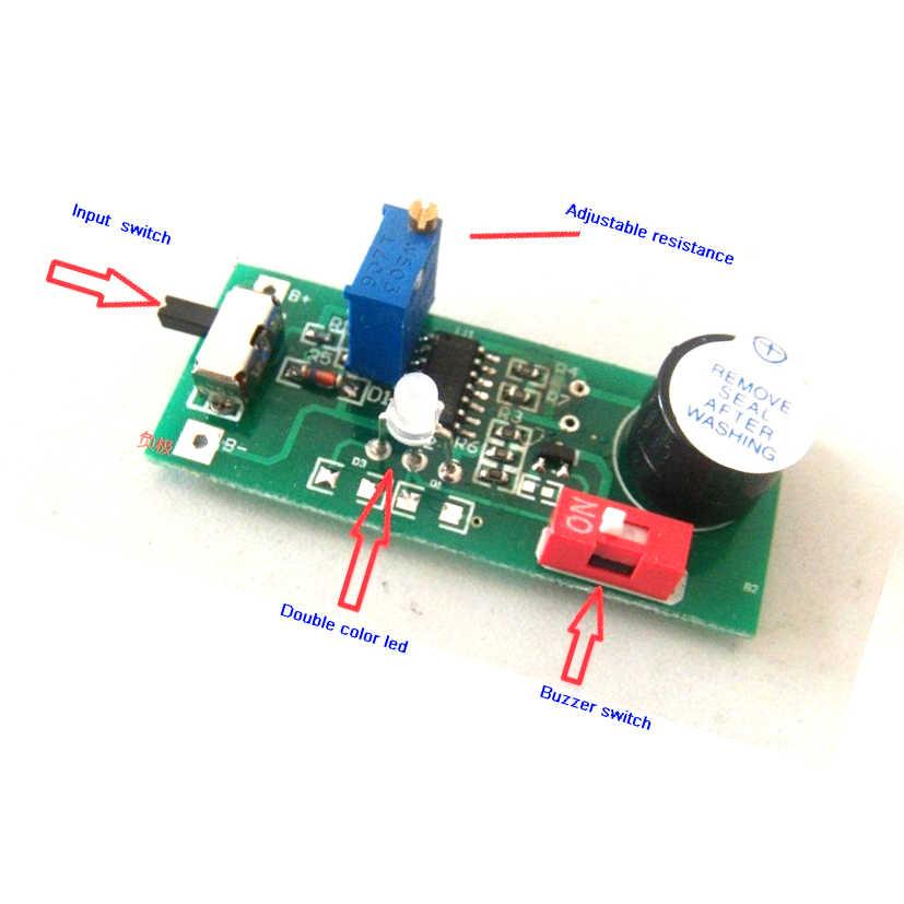 2S 3S 4S 5S 7S batería de bajo voltaje advertencia 6,5 V-30 V alarma zumbador ajustable ion-litio NiMH NiCD ion fosfato LED indicador de energía