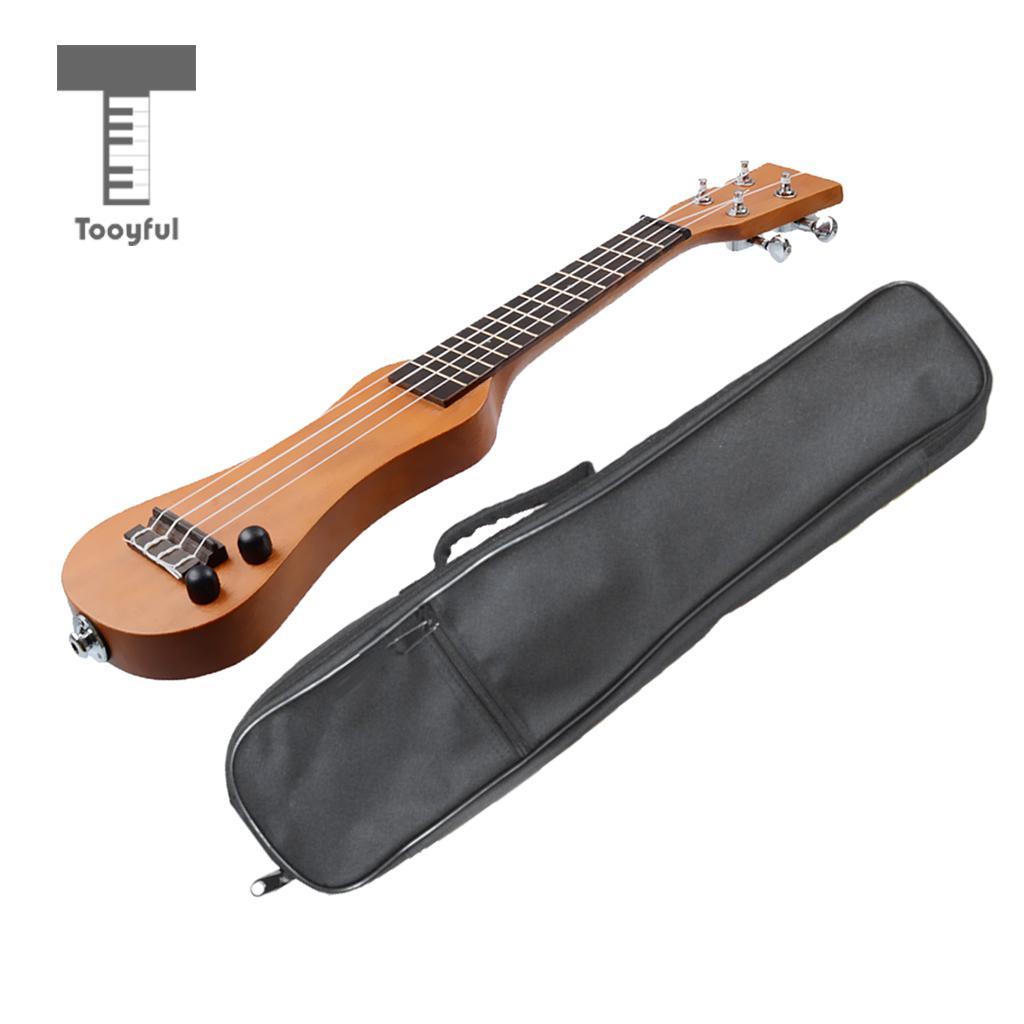 Tooyful 21 inch Mini Electric Ukulele with Black Ukulele Gig Bag for Beginner цена