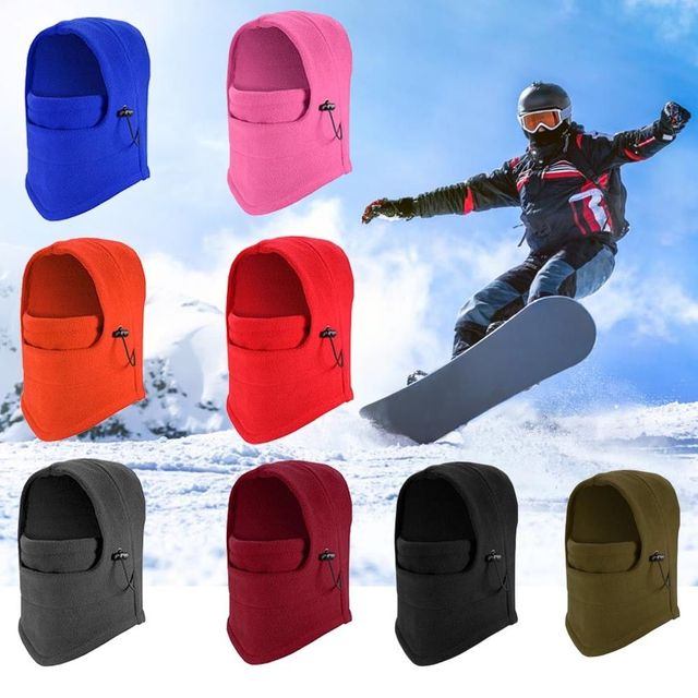 Ski Full Face Mask Cover Hat Cap Motorcycle Thermal Fleece Balaclava Neck Winter Roubix Face Mask Motorbike Under Helmet