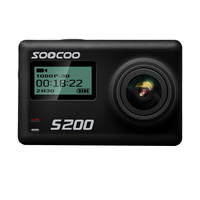 SOOCOO S200 Action Camera Ultra HD 4K NTK96660 + IMX078 with WiFi Gryo Voice control external mic GPS 2.45 inch touch lcd