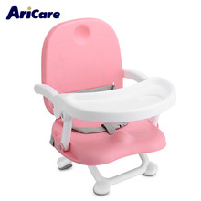 Hot Sales Baby Booster Chair Baby Booster Seat High Chair Foldable Detachable Tray Adjustable Height Toddler Seat Mat