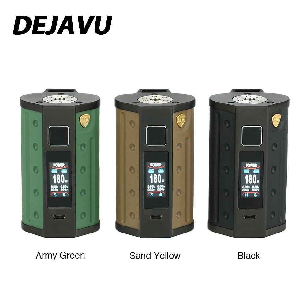DEJAVU DJV D7 180 W écran tactile TC boîte MOD avec GX180 UTC puce Support double 18650 batterie e-cig Vape Mod VS Luxe Mod glisser 2