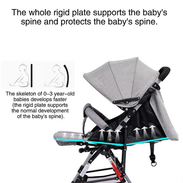Kidlove Pull Rod Type High View Baby Trolley Shock Absorber Baby Stroller 0-3 years old high landscape children umbrella cars 3