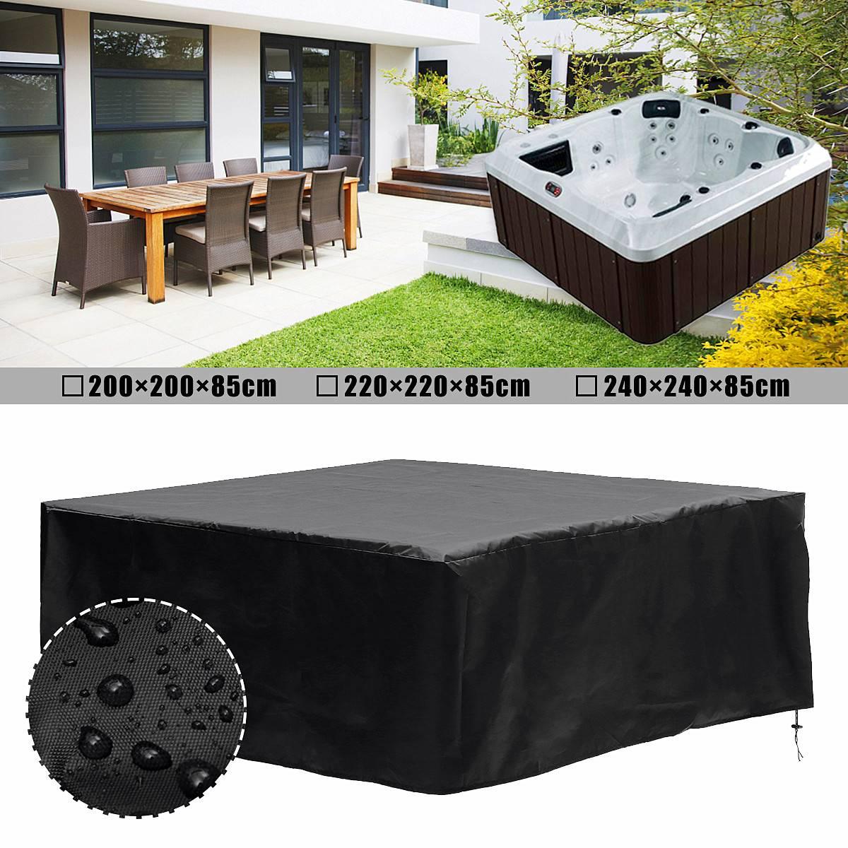 200/220/240*85 cm Spa couvre capuchon baignoire couverture bain à remous temps couvre ombre baignoire couverture anti-poussière protecteur résistant à la chaleur
