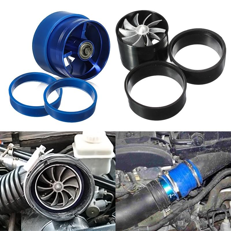 Universal Car Air Filter Intake Fan Fuel Gas Saver Supercharger For Turbine Turbo Charger Turbocharger with 2 Non-Slip Rubber turbine