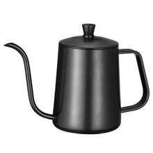Нержавеющая сталь Монтажный кронштейн ручной удар горшок кофейники с крышкой капельного гусиная шея носик длинный рот Кофе чайник-600 мл