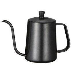 ステンレス鋼取付ブラケットとハンドパンチポットコーヒーポット蓋ドリップグースネックスパウトロング口コーヒーケトルティーポット 600 ミリリットル -