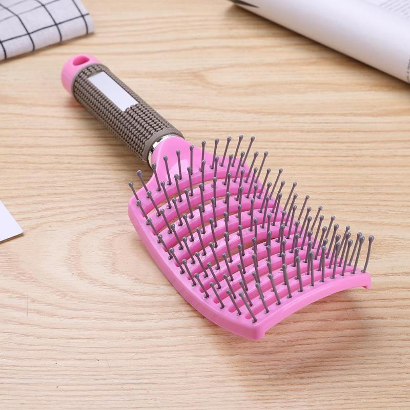 Professional Combs Nylon Tangle Hair Brush Round Detangle Hair Comb Brush Hairdresser Wet Curly Detangle Hairbrush Hot Sale