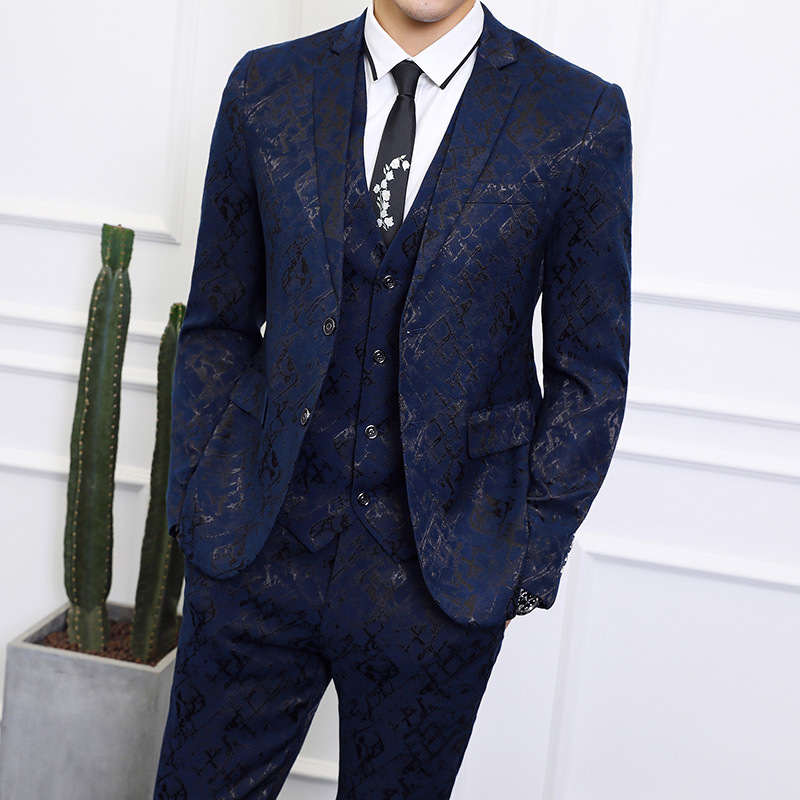 Anzüge & Blazer Anzüge Blazer Herren Bühne Tragen Bühne Kleidung Mens Social Blusa Masculina Slim Fit Club Blazer 2 Pcs/3 Pcs Anzug Kostüm Homme Business