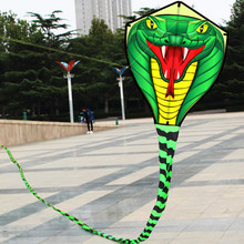 8M/15M Snake Kite Single Line Flying Kite Outdoor Sports Fun Toy with Handle with 30 String Camping Flying Kite(China)