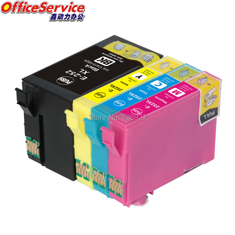 T252XL T2521 Compatible Ink Cartridges For Epson WF 3620